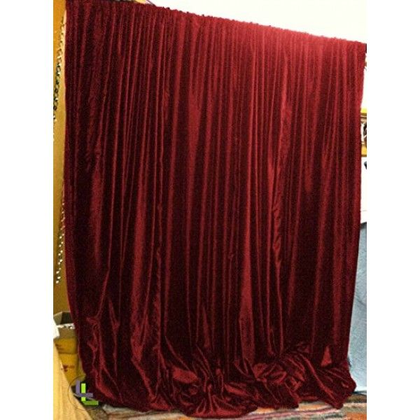 Burgundy Vintage Cotton Velvet Curtains 120 In 10ft Long Thick Velvet Heavy Weight Zero Blackout Sound Cont Red Velvet Curtains Victorian Curtains Curtains