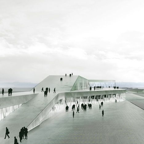 Danish architects C. F. Møller have won a competition to design a new ferry terminal in Stockholm, Sweden.