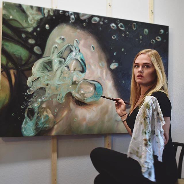 Best Underwater Painting Images On Pinterest Underwater - Artist creates stunning hyper realistic paintings of women