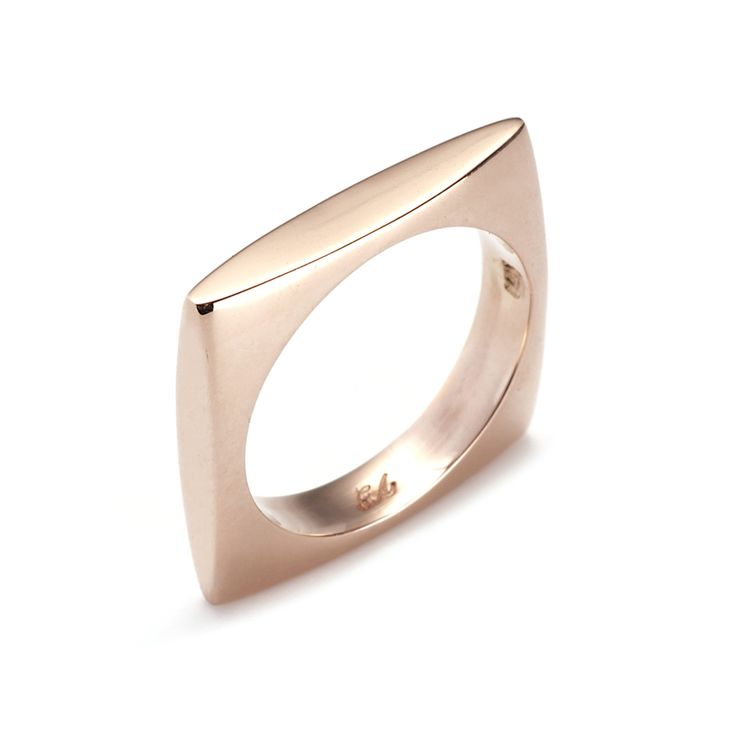 rose gold square ring!