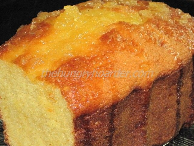 Pineapple Orange Pound Cake - You know me and my pineapple, it's weird though I can't eat plain old pineapple. I just love everything flavored with pineapple. I made these in my mini loaf pans so I could give them away.