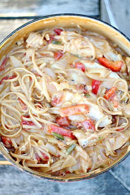 One Pot Spicy Chicken Linguine #recipe