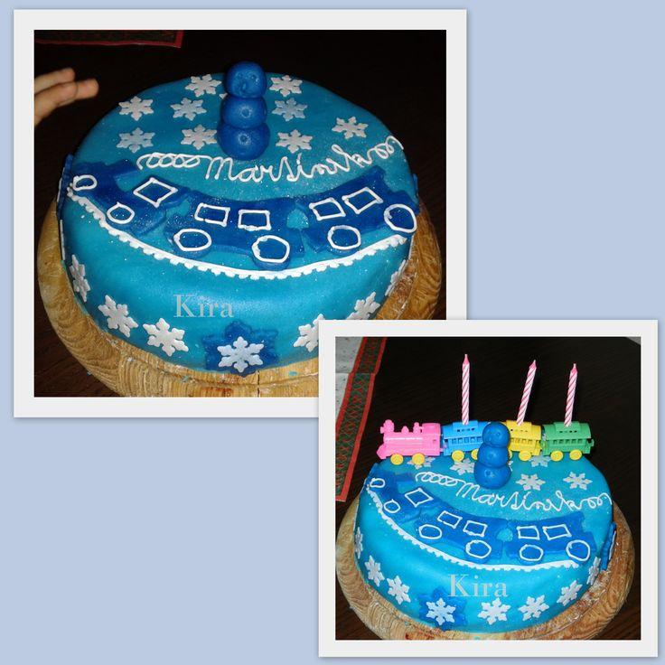 1. Můj první dort, k třetím narozeninám M. 2013