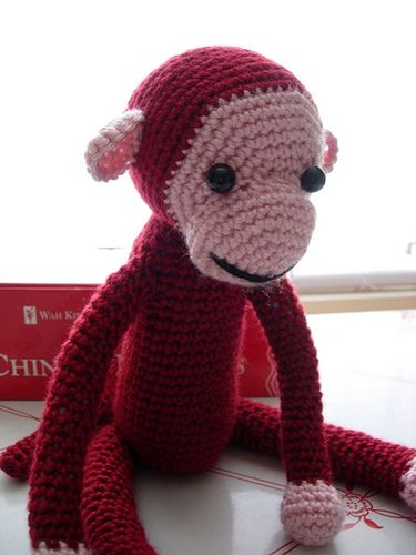 Crochet Amigurumi Ghost Pattern : Crochet monkey #amigurumi - looks like Curious George ...
