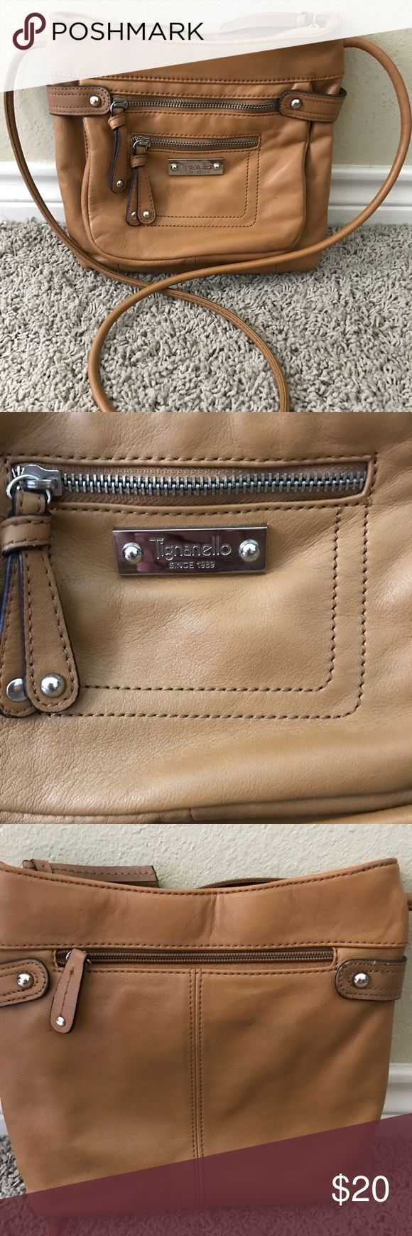 Tignanello Leather Crossbody Bag Super cute crossbody bag, all leather.  I carried a few times to some craft fairs, etc.  Lots of pockets!  Smoke free, pet free home.  No blemishes, great condition! 👍🏼 Tignanello Bags Crossbody Bags