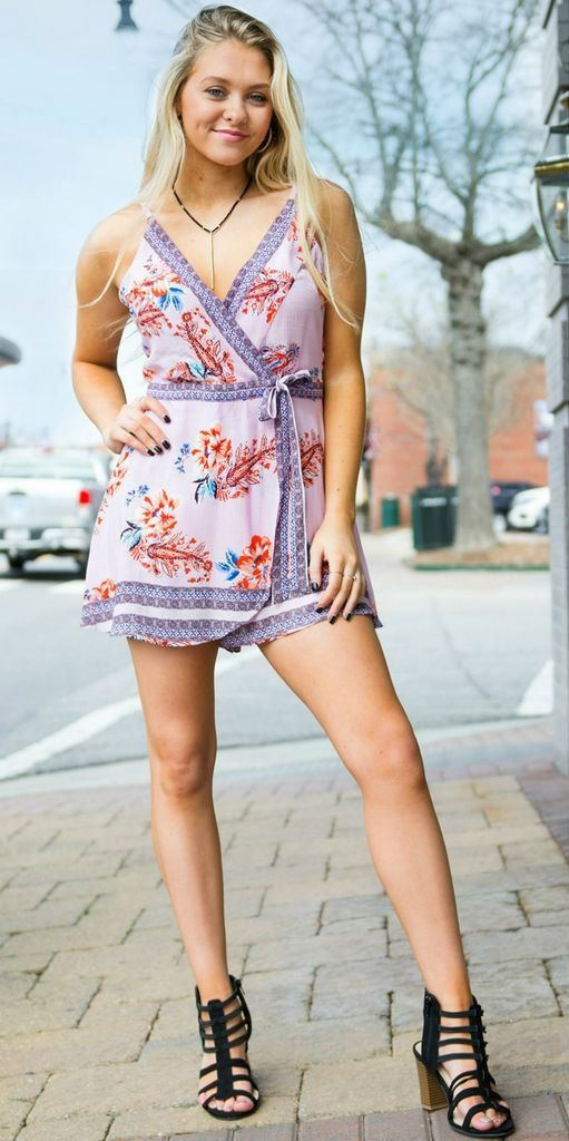 Spring Fling Lilac Floral Playsuit from Cousin Couture.