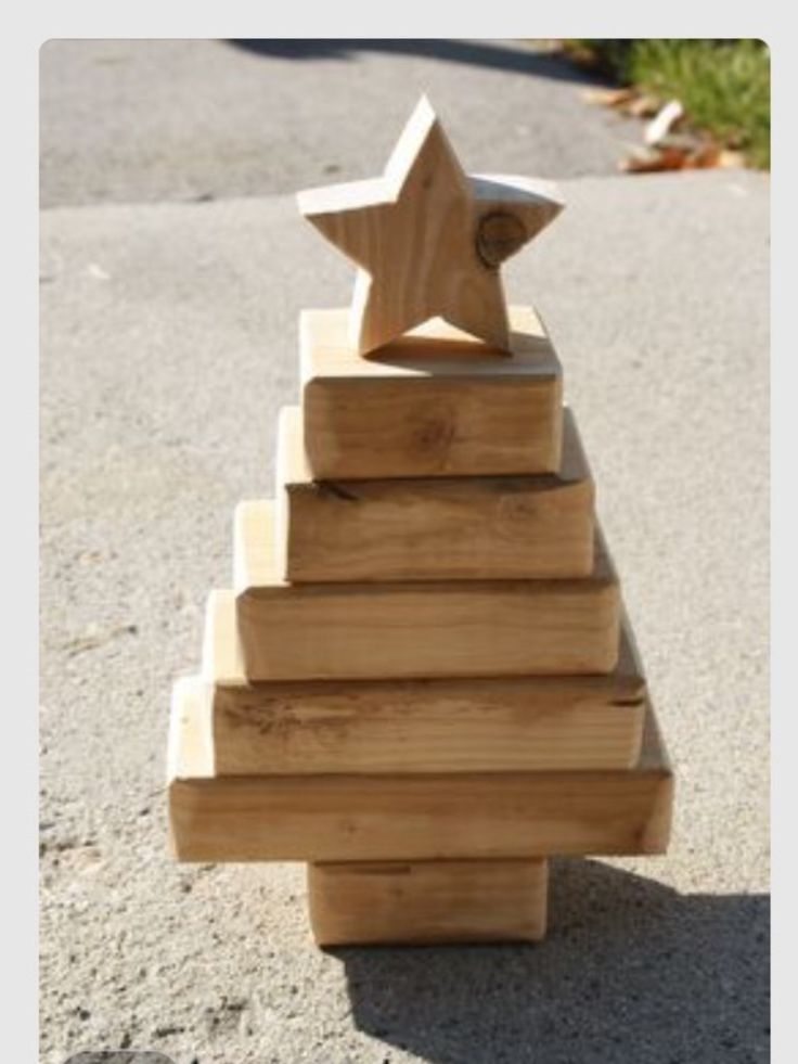Christmas Tree from Wooden Blocks