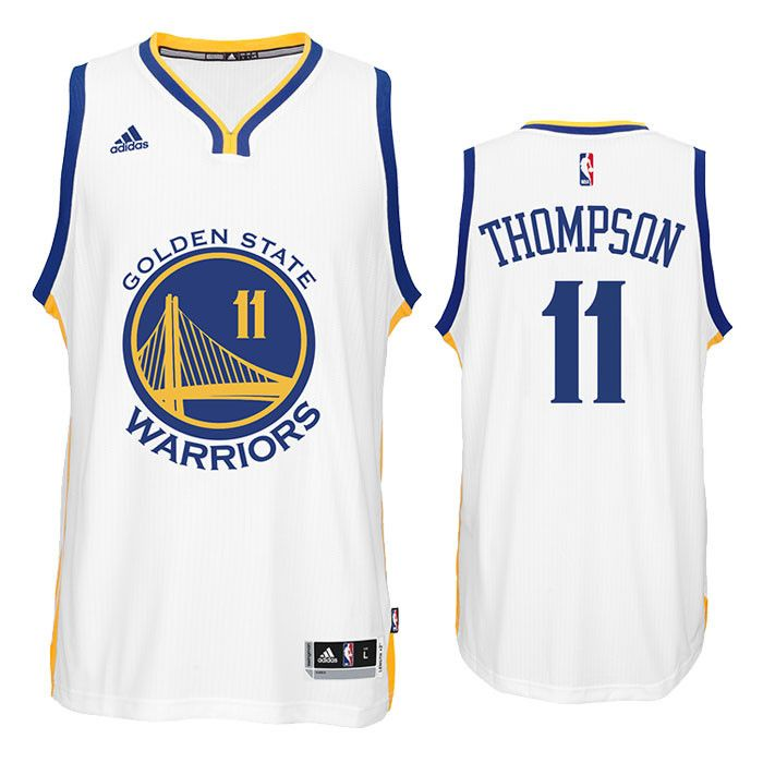 Klay Thompson is one the league's most dangerous shooters. Rep the Golden State Warriors and Klay Thompson in this White Golden State Warriors Swingman Jersey from adidas. Can the Warriors repeat? Mak