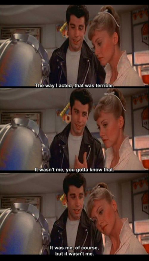 he wasnt the worst but they were cute once he got his act together #Grease