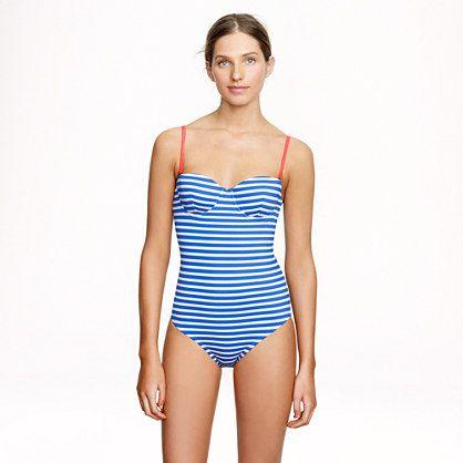 J Crew Stripes Swimming Costume