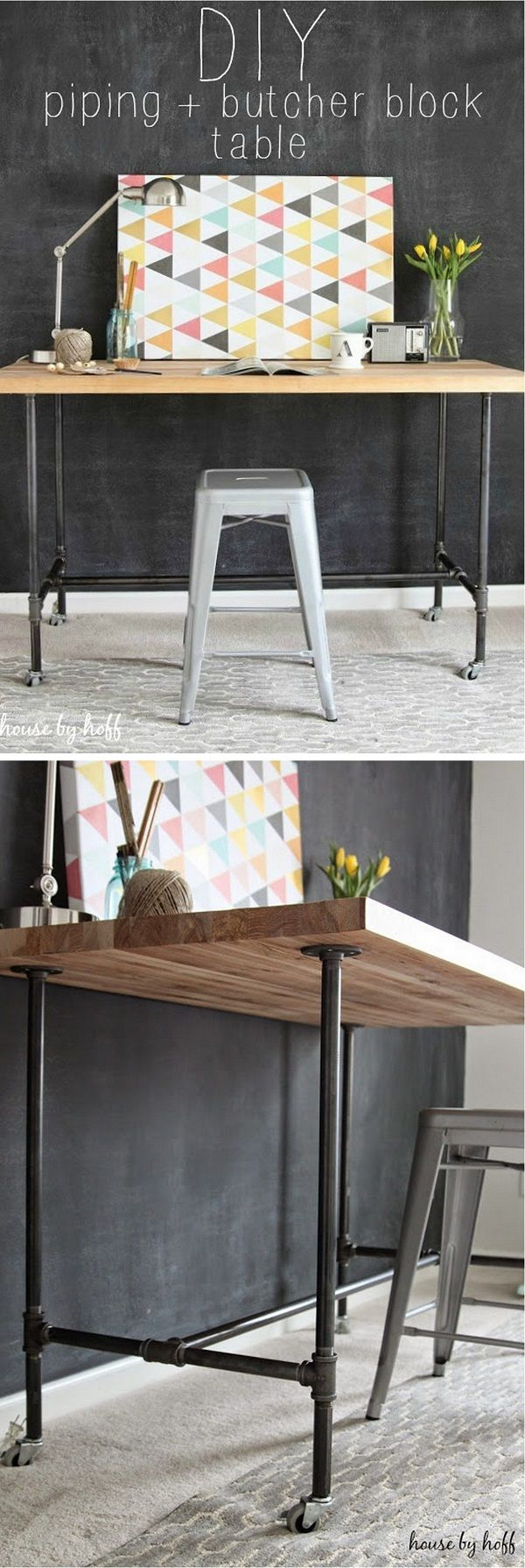 Check out this easy idea on how to build a #DIY #wood and piping table for living room #homedecor #budget #project @istandarddesign