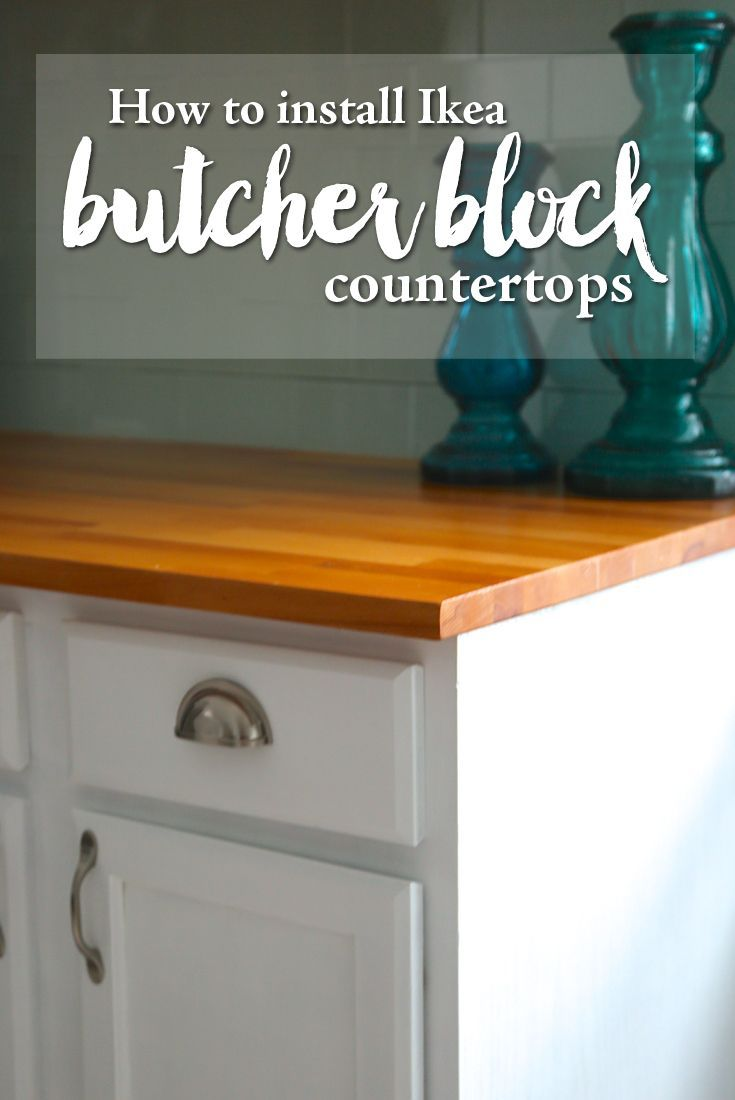 How To Install Ikea Butcher Block Countertops Yourself Diy Kitchen Renovation Using Hammarp