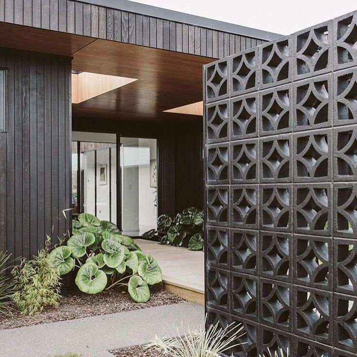 "240 Likes, 9 Comments - @marmosetfound on Instagram: ""Breeze blocks + Timber boardwalk + Lush greens = Entry Heaven  via @homestylemag  Home designed…"""