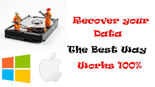 I will show you today the best way to recover data and it really works. I tried so many recovering data programs but always I was disappointed until I tried this great program. It's available for Windows and Mac.
