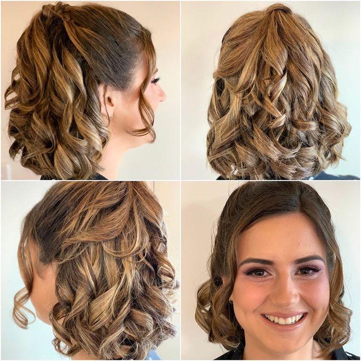 Brünette Babe! Formelle Haare und Make-up der 12. Klasse von Felicity! Wie schön! . . . . . #Frisuren #Frisuren #Locken #Formalstil