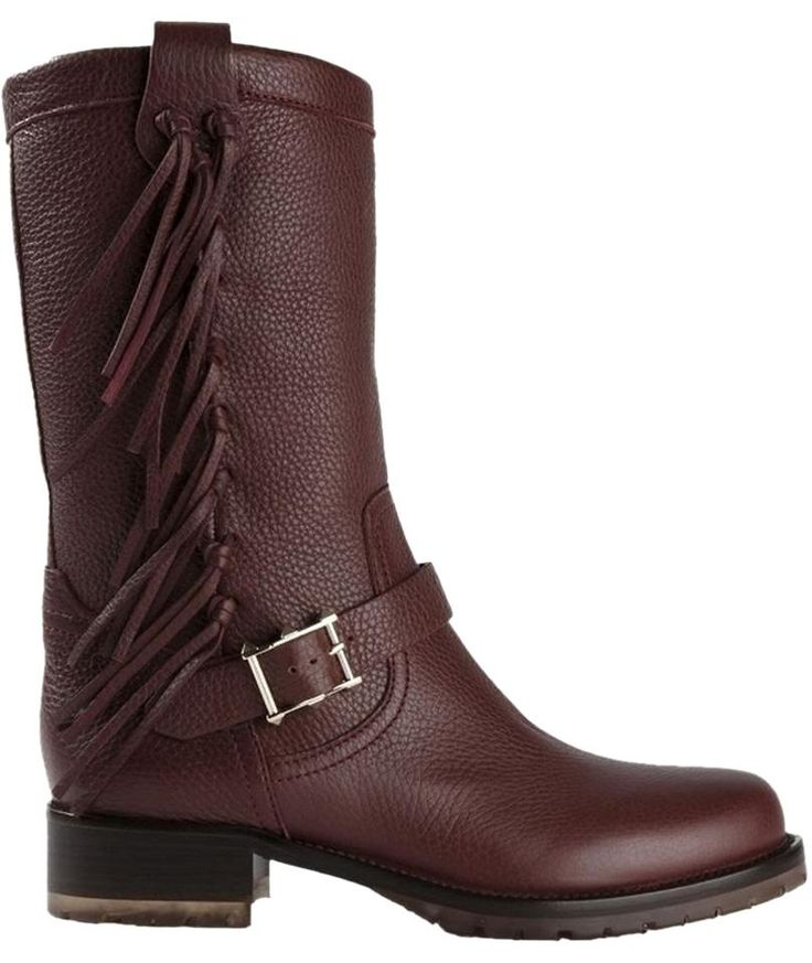 Valentino Fringed 38.5(8.5) Nib Burgandy Boots. Get the must-have boots of this…