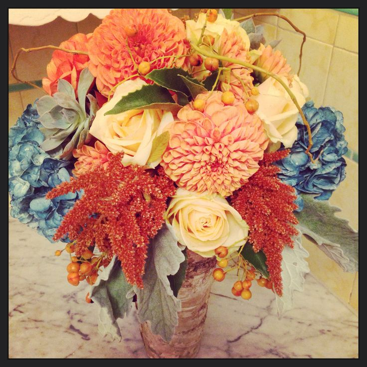 Rustic Fall Wedding Centerpiece