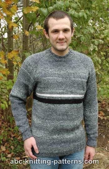 Suéter para hombre Raglan Top Down