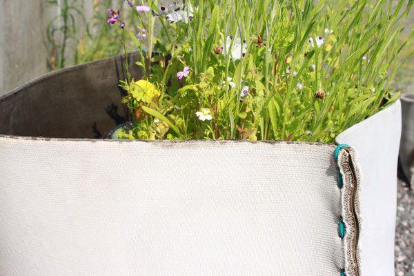 Plünnen - Vasen und Pflanztöpfe aus Textilbeton - moijdesign Designbüro aus Hamburg
