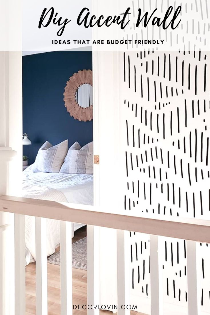 Budget Friendly DIY Accent Wall Ideas in 2020   Wall ...