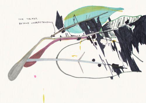 Aurelio Ayela The talker beyond understanding. 2007. Rotulador/papel. 70x100 cm. VIA MORE