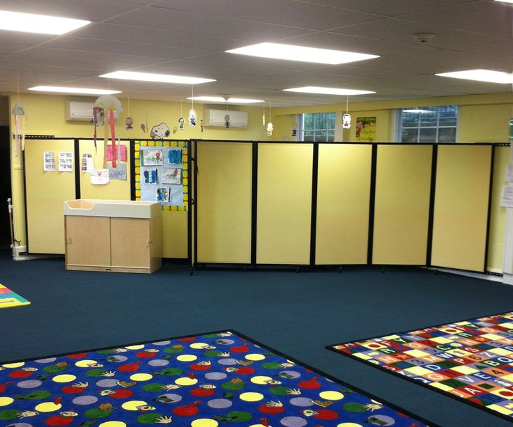 Superb School Room Dividers Part - 5: Our Wall-Mounted Room Divider 360 Is Seen Here Sectioning Off Space In A  Daycare
