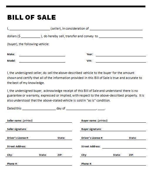 The 25+ best Bill of sale car ideas on Pinterest Bill of sale - bill of sale form in pdf