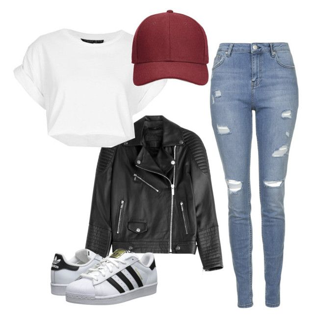 Untitled #36 by sabrier on Polyvore featuring polyvore fashion style Topshop Karl Lagerfeld adidas Originals Whistles clothing