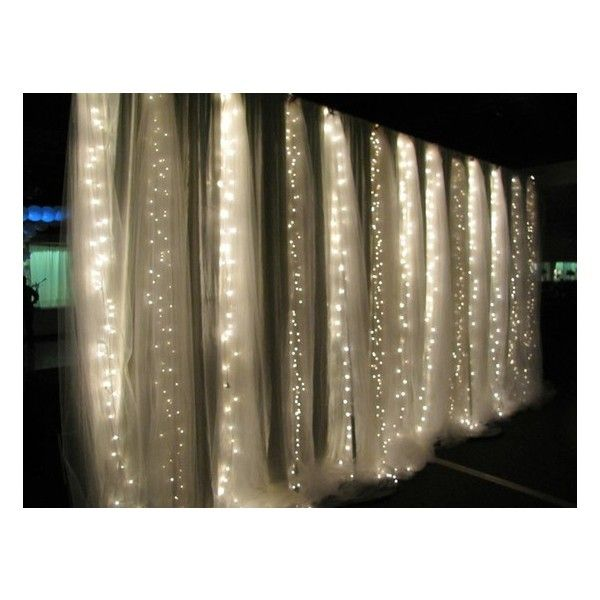 "String Lights with hanging sheer fabric ("",)"