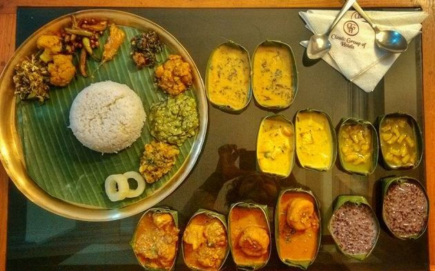 A Manipuri thali is made up of so many components, there is a black rice kheer which you shouldn't miss