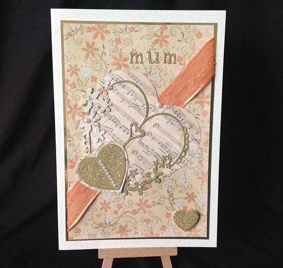 #Mothers #Day #Handmade Card - Decoupage - #Music theme