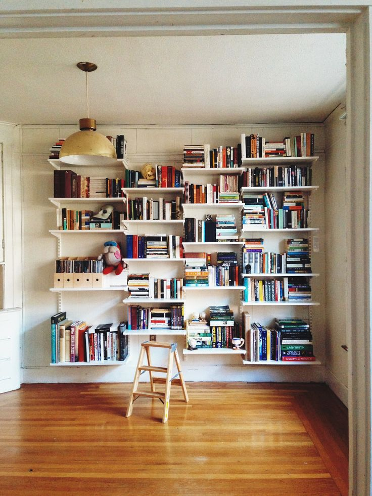 Elfa bookshelves home decor that i love pinterest home library design livres and the doors - House design new model shelves ...