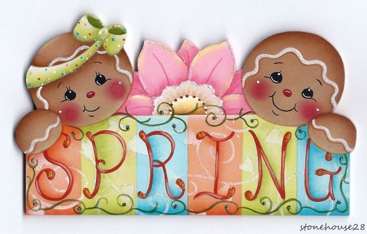 "HP GINGERBREAD ""Spring"" FRIDGE MAGNET in Crafts, Handcrafted & Finished Pieces, Handpainted Items 