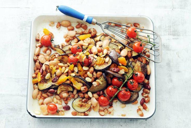 Kijk wat een lekker recept ik heb gevonden op Allerhande! Chickslovefoods snelle bonenschotel