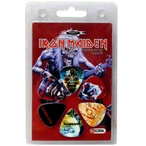 Official Iron Maiden 6 x guitar pick set Perfect for any guitar player, collector or true fan, makes a great gift item or a treat for yourself!