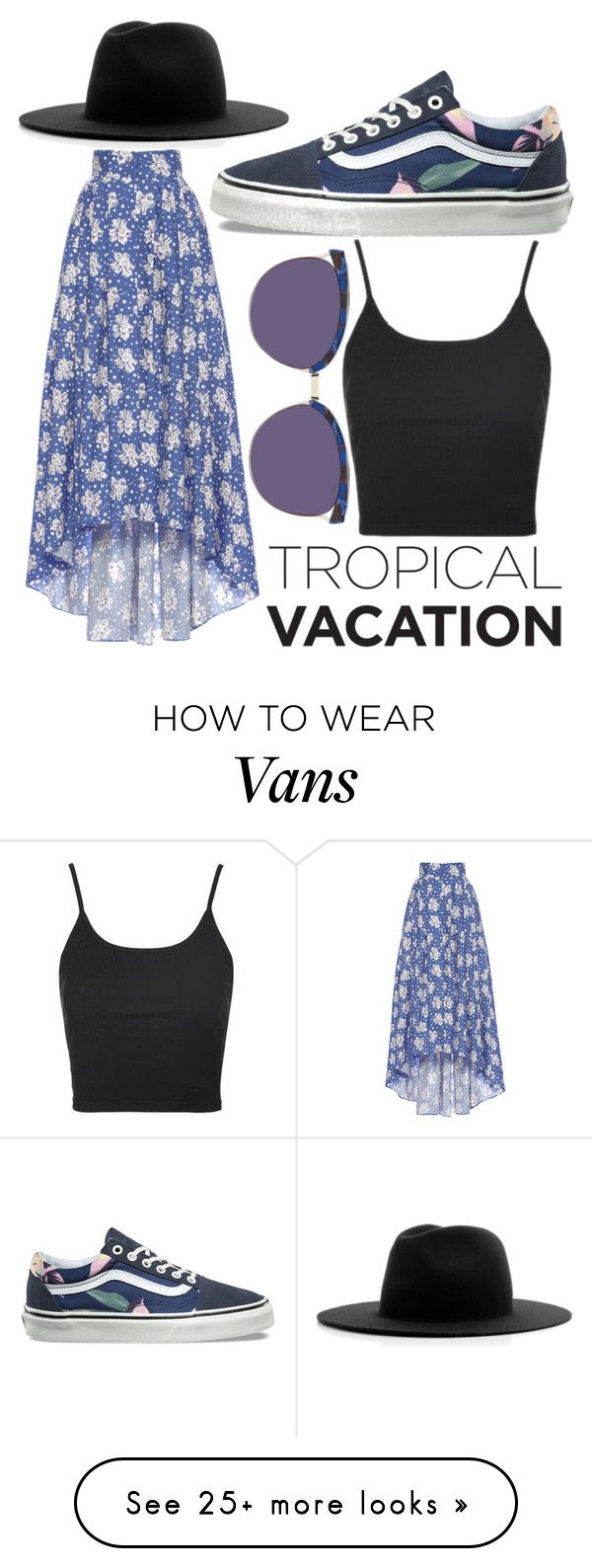 """Summer beach gig"" by phangirl4523 on Polyvore featuring LUISA BECCARIA, Vans, Topshop, Balmain and Études"