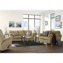 "Rent to Own Living Room Furniture - Premier Rental-Purchase located in Dayton. Ashley ""Aluria-Mocha"" Sofa and Loveseat. Call (937)278-2000"