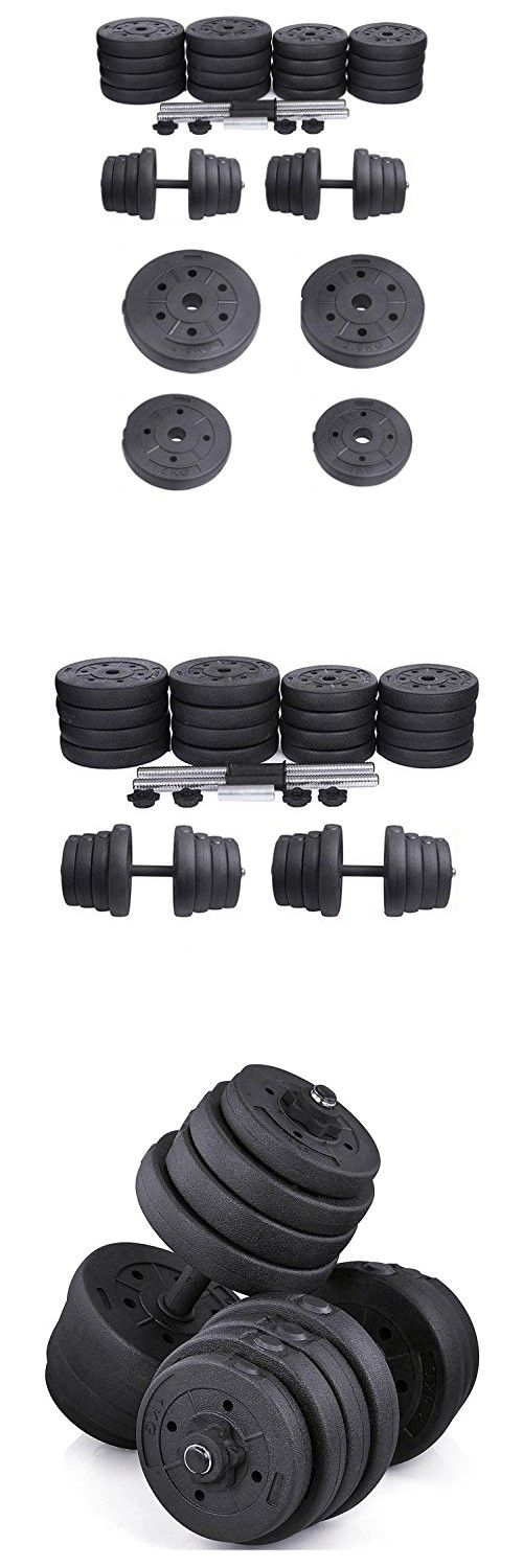 Adjustable Dumbbell and Barbell Set - TOOGOO(R) 30kg Adjustable Dumbbell and Barbell Set Workout Equipment