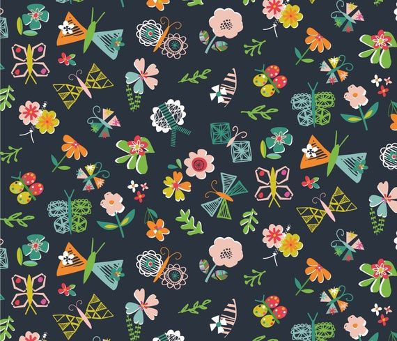 Dashwood Studio Garden Contemporary Bold Flower Cotton Patchwork Fabric