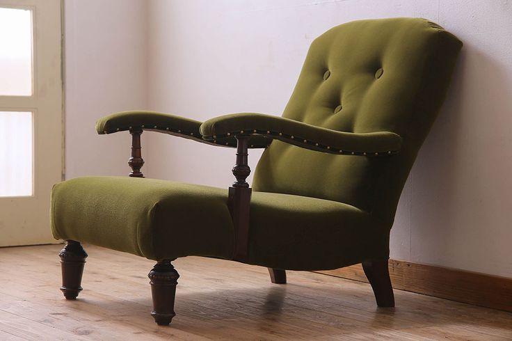大正ロマン 一人掛けソファ(アームチェア、ラウンジチェア、椅子)_4