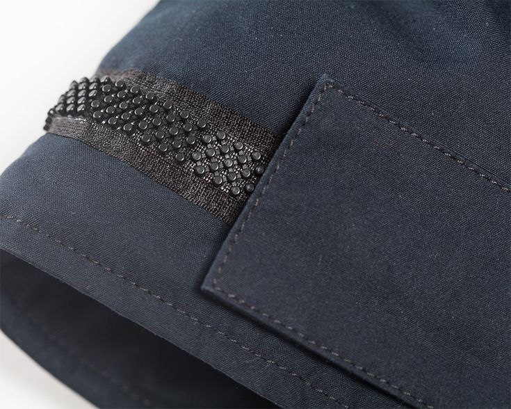 Block Tapey on your amazing Supermarine Soft Core Parka! #details #trims #blocktapey