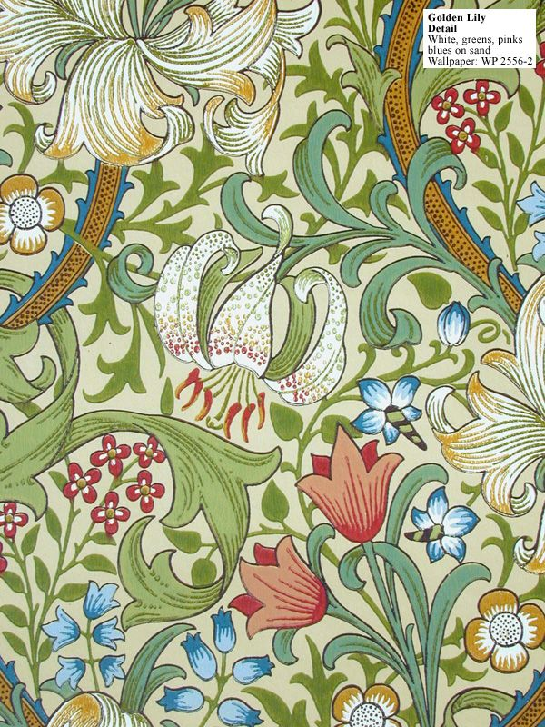 """Golden Lily."" #william_morris, #design"