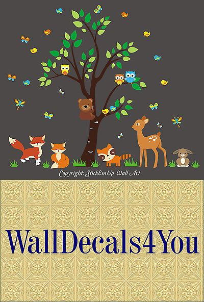 Wall Decals and Vinyl Art 180505: Nature Wall Decals - Forest Wall Stickers - Nursery Stickers - Baby Room Prints -> BUY IT NOW ONLY: $194.95 on eBay!