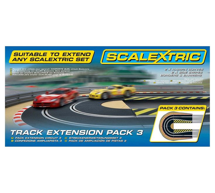 Buy Scalextric Track Extension Pack 3 - Hairpin Track Accessory at Argos.co.uk, visit Argos.co.uk to shop online for Toy cars, vehicles and sets, Toy cars, trains, boats and planes, Toys