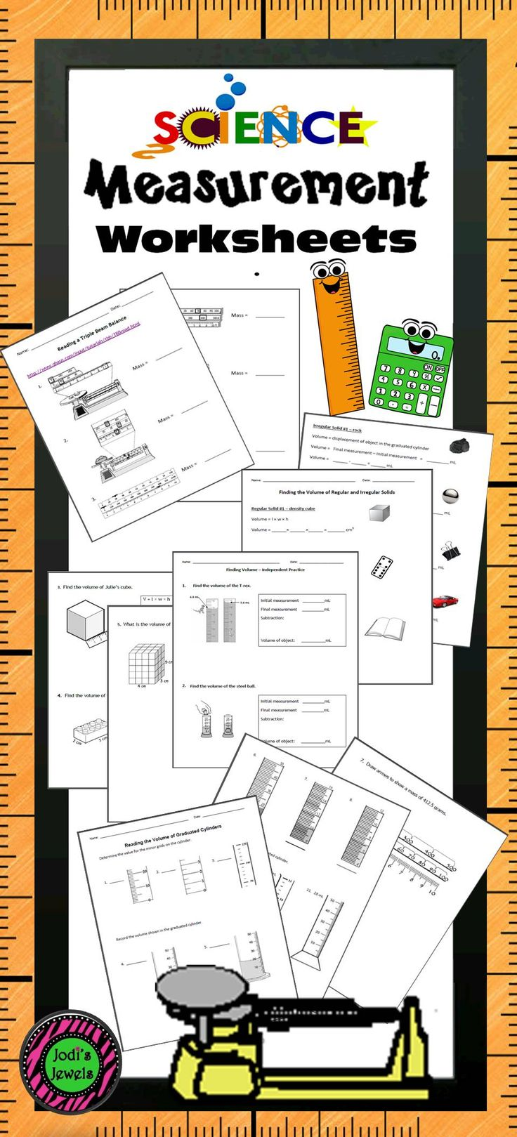 Students will apply what they've learned about reading volume of regular  and irregular solids and measuring mass with these measurement worksheets  by Jodi's ...