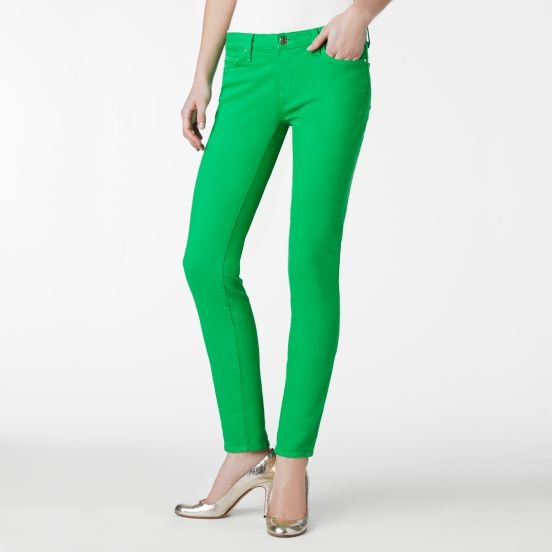kate spade | designer womens pants -  broome street colored jeans green: Green Jeans, Clovers Jeans, Colors Jeans, Street Colors, Broom Street, Kelly Green, Rooms Broom, Green Pants, Kate Spade