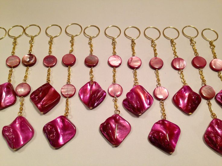 Great Pink Shower Curtain Hook Decoration For The Bathroom. Gold Chain