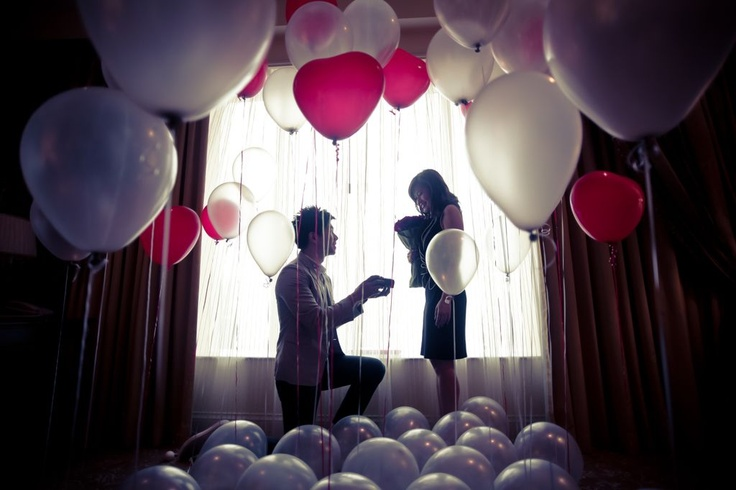 He proposed in a room full of balloons and love. | Jocelyn and Johnny's pre-wedding is featured in our e-magazine, Celebrate and is photographed by d'ZIGN For You.
