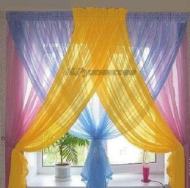 Combinado colores en cortinas