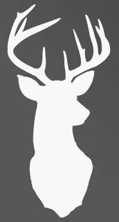 Stencil Deer silhouette- use for wrapping paper